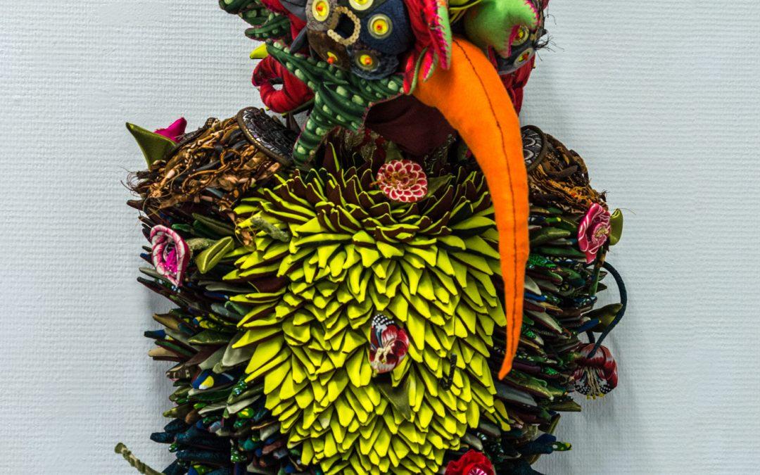 Colibri, sculpture textile de Myrtille Béal